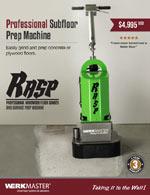 WerkMaster RASP Subfloor Prep Brochure Cover