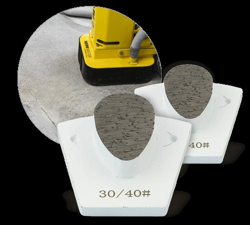 WerkMaster Heavy Duty TearDrop - Polishing Concrete Tooling