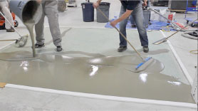 Pouring Mapei Ultratop PC