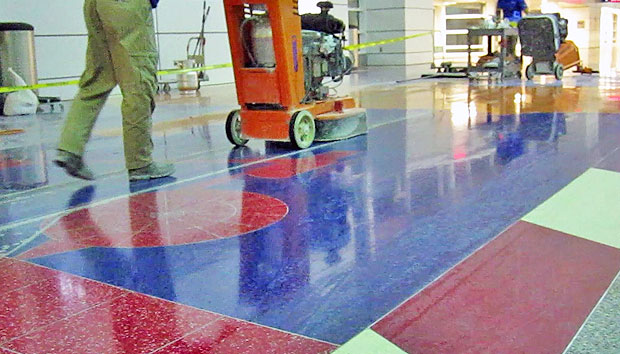 Steps-to-Refinishing-Terrazzo-Dallas-Fort-Worth-Airport