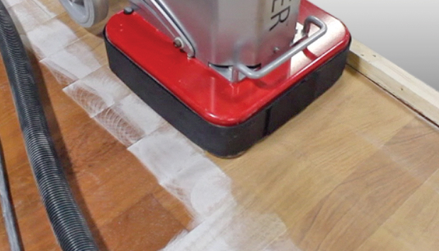 Remove aluminium oxide from engineered hardwood floors