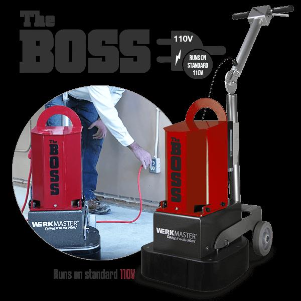 The Boss by WerkMaster runs on standard 110V