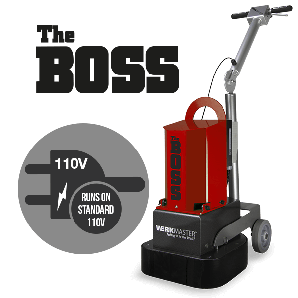 The Boss runs on 110v voltage