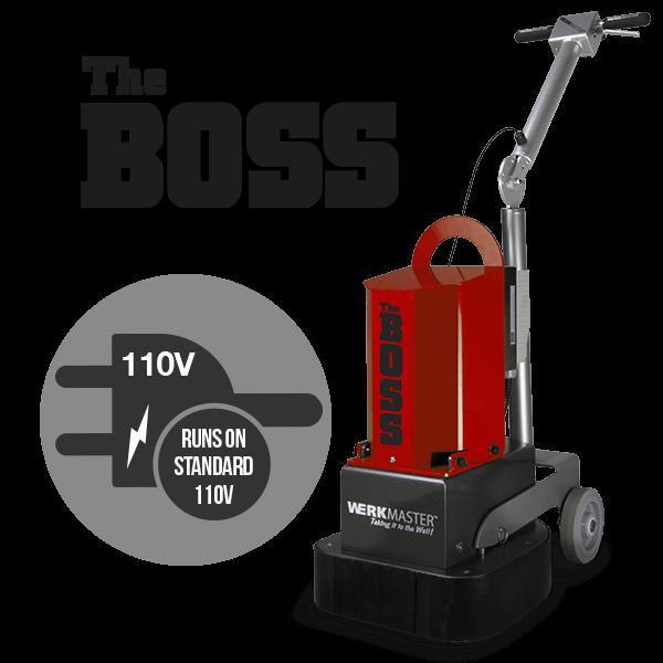 The Boss runs on 110v voltage