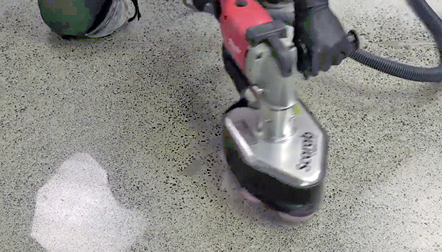 Polishing Concrete with The Scarab