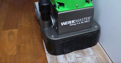 Rasp by WerkMaster. A professional hardwood floor sander.