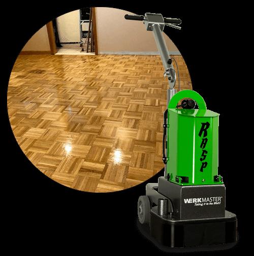 WerkMaster RASP with hardwood floor