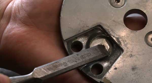 Step 1 of magnet repair