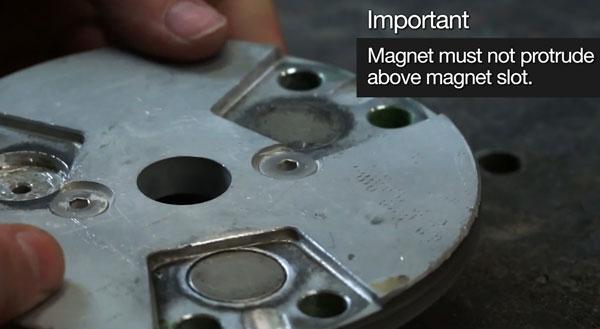 Step 6 of magnet repair